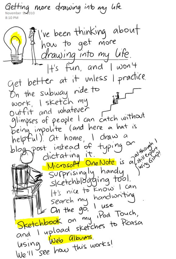 sketchblogging