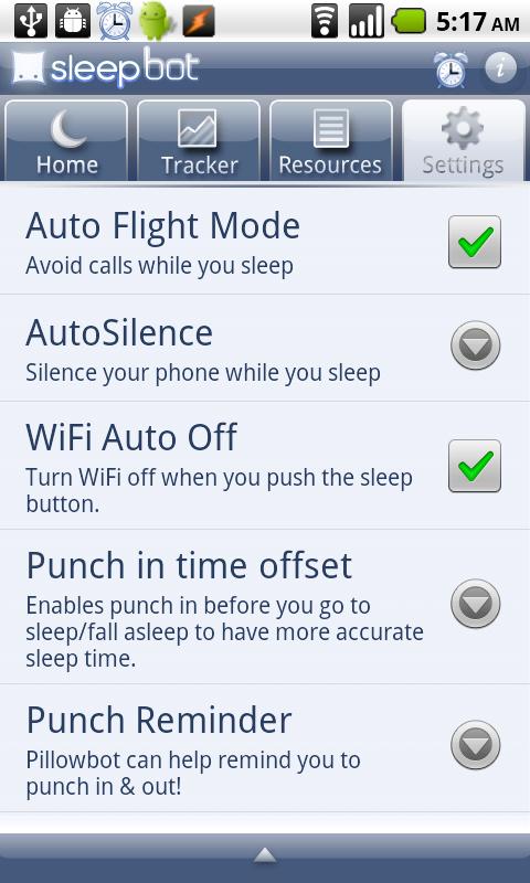 Android: Tracking sleep with Sleep Bot –