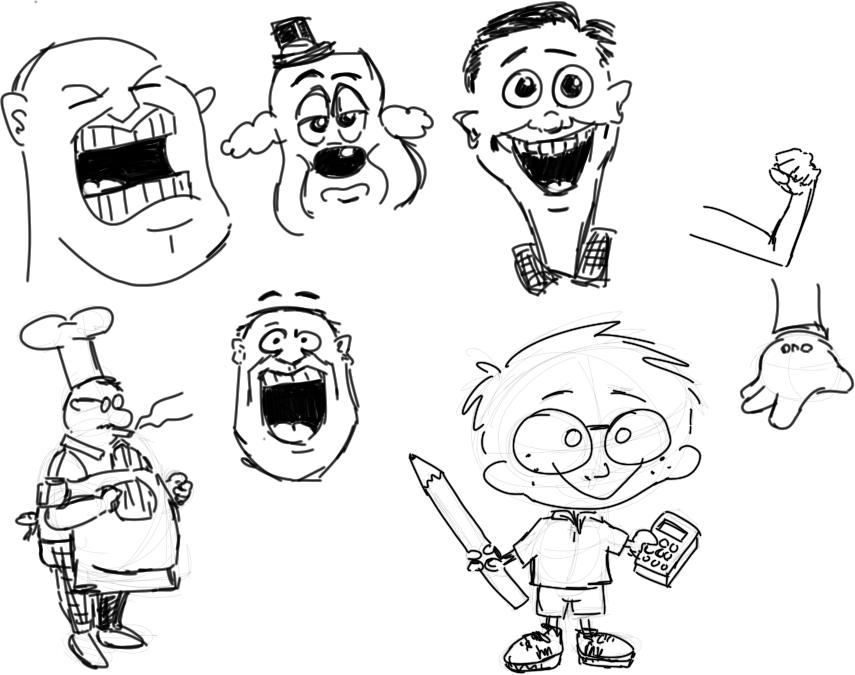 practising drawing