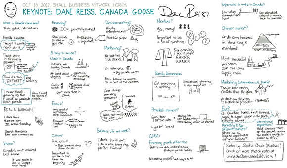 20121016 Small Business Forum - Canada Goose - Dani Reiss