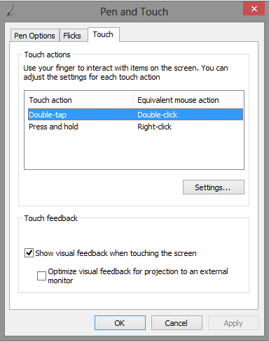 Disabling touch on Windows 8 on a Lenovo X220 tablet \u2013