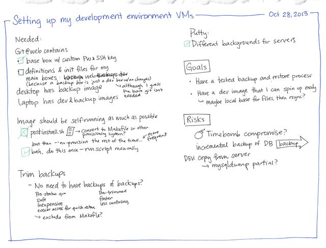 2013-10-28 Setting up my development environment VMs