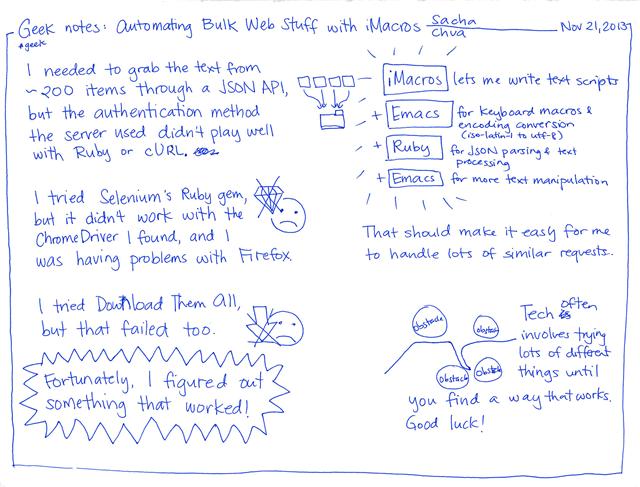 2013-11-21 Geek notes - automating bulk web stuff with iMacros
