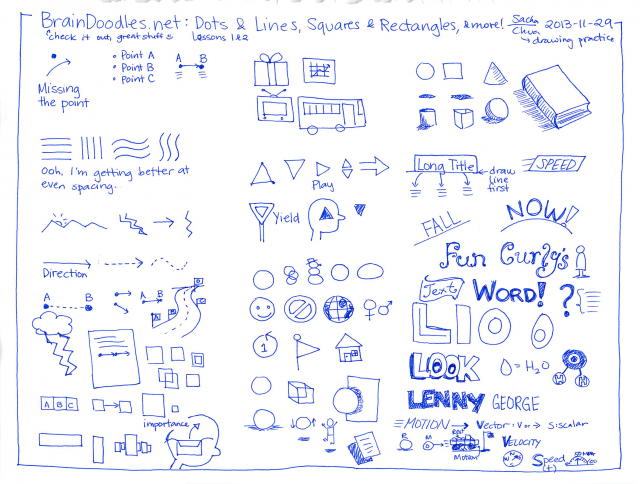 2013-11-29 BrainDoodles lesson 1 and 2