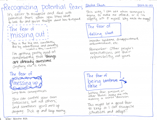 Recognizing potential fears