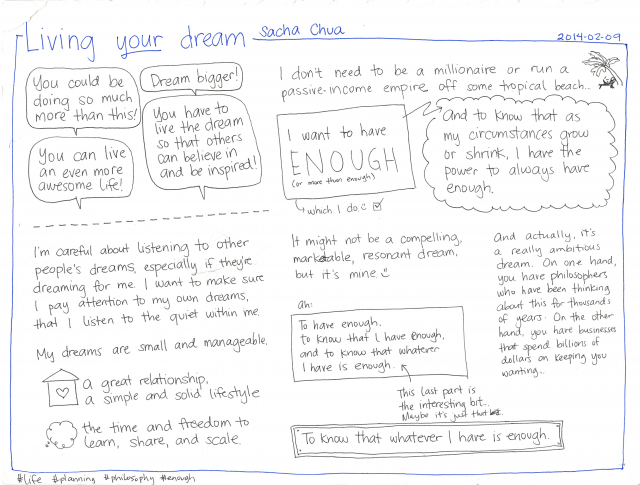 2014-02-09 Living your dream