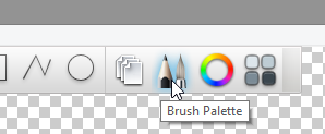 Brush palette