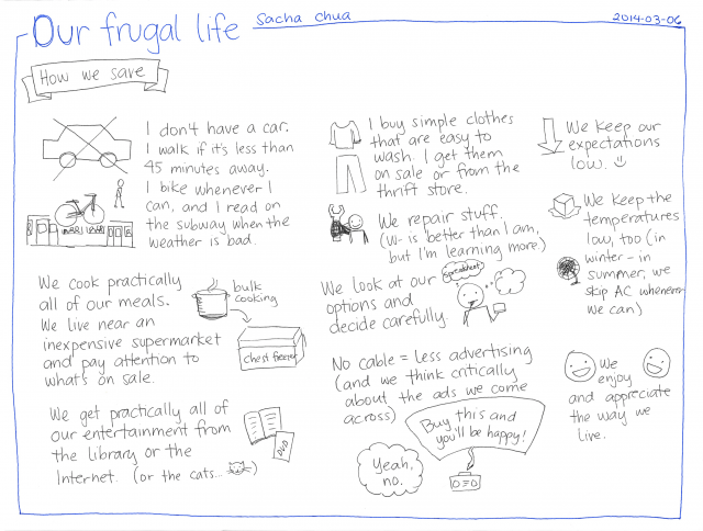 2014-03-06 Our frugal life #finance #frugality
