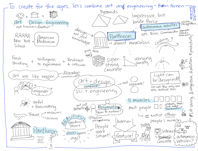 2014-03-25 TED - Bran Ferren - To create for the ages, let's combine art and engineering #visualtoronto