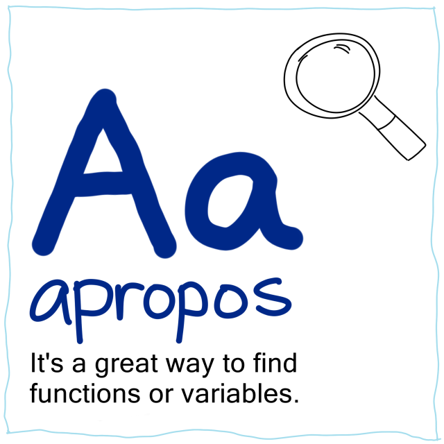 A is for apropos