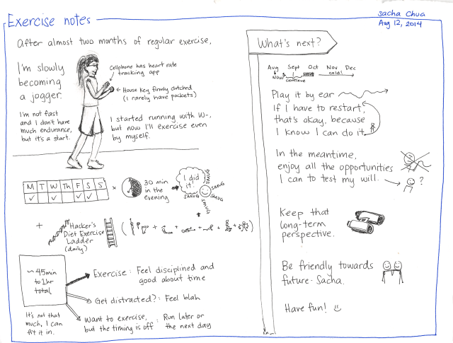 2014-08-12 Exercise notes - #exercise