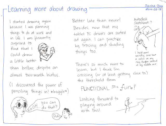 2014-08-13 Learning more about drawing - #drawing