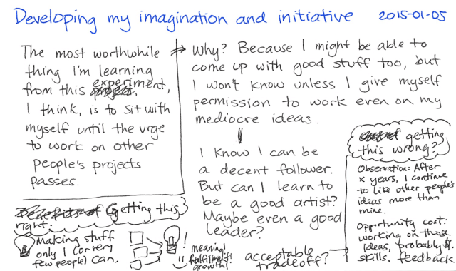 2015-01-05 Developing my imagination and initiative -- index card