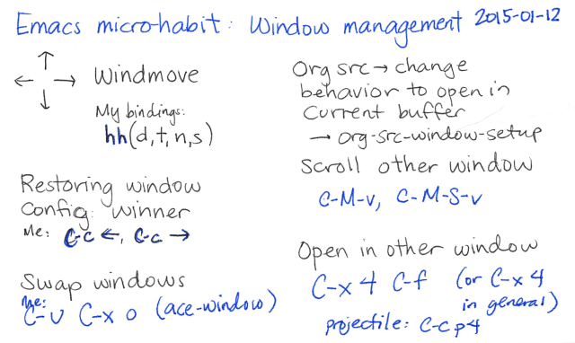 2015-01-12 Emacs microhabit - window management -- index card #emacs