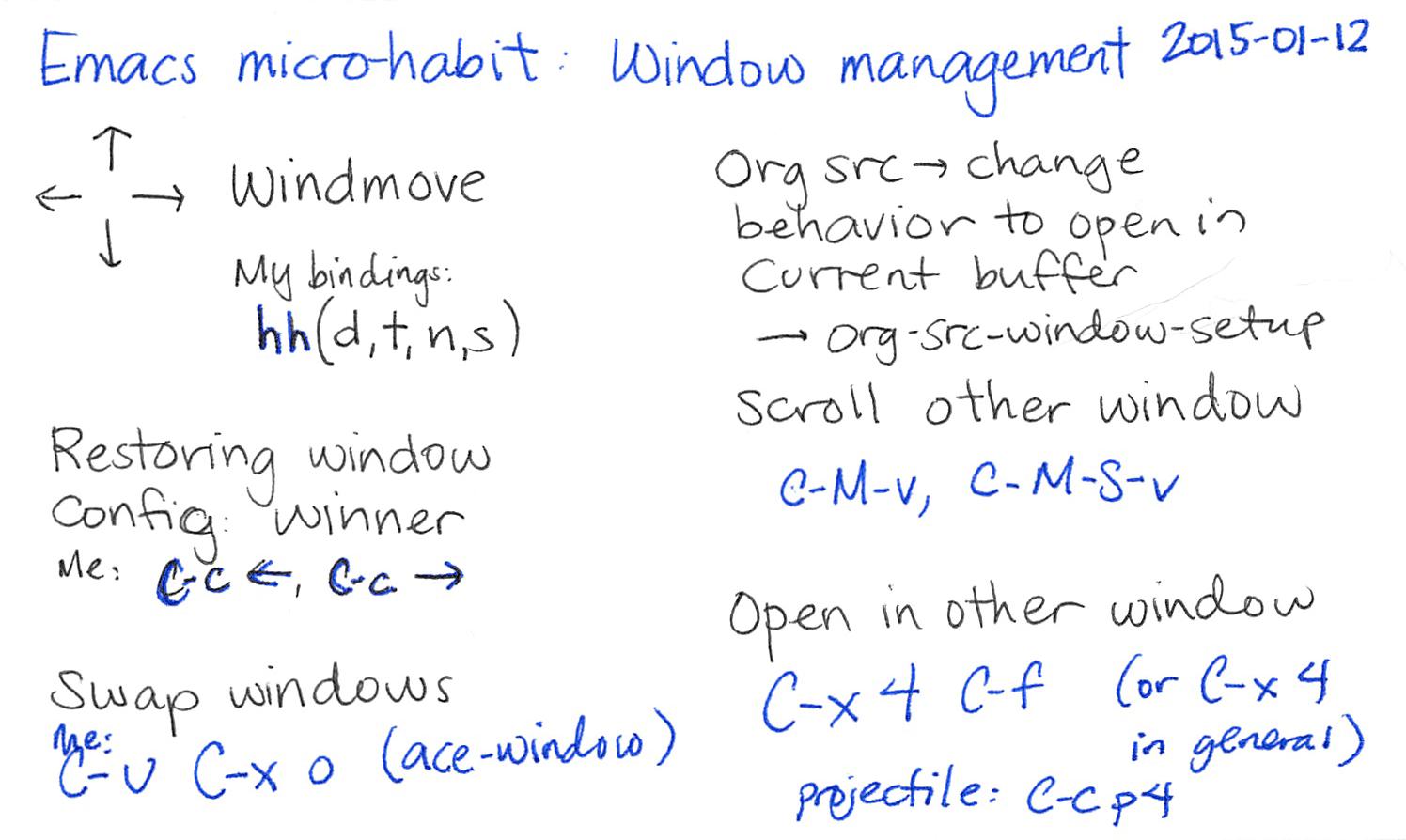 Windows Live Writer And Blogging 7 Profesional Win Pro Coa Bonus Stiker Logo Dan Installer 2015 01 12 Emacs Microhabit Window Management Index Card