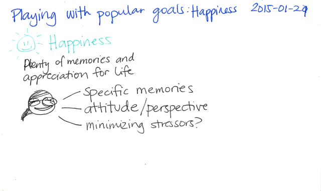 2015-01-21 Playing with popular goals - Happiness -- index card #popular-goals