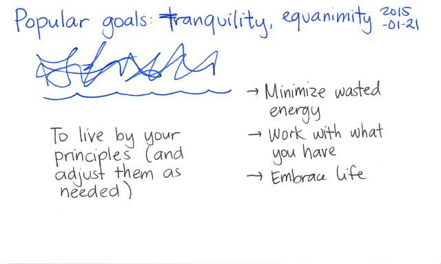 2015-01-21 Popular goals - tranquility, equanimity -- index card #popular-goals
