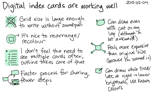 2015-02-04 Digital index cards are working well -- index card #drawing #digital