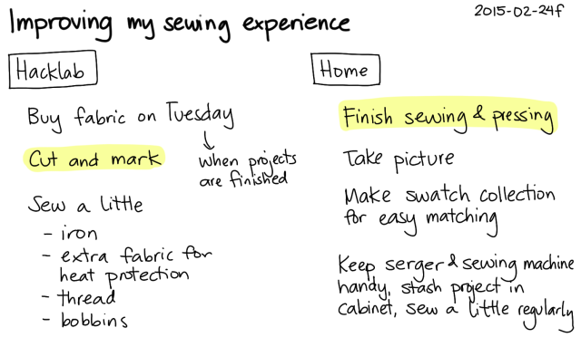 2015-02-24d Improving my sewing experience -- index card #sewing