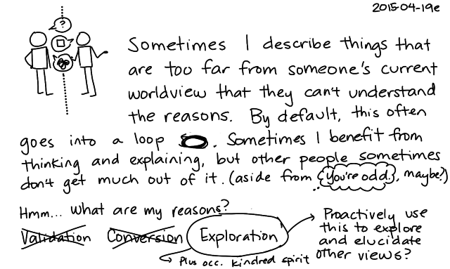 2015-04-19e Different worldviews -- index card #small-talk
