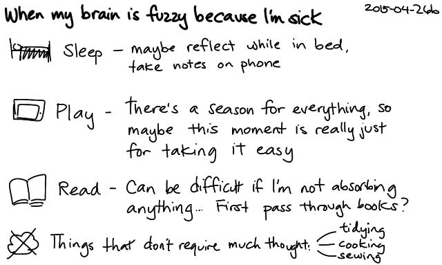 2015-04-26b When my brain is fuzzy because I'm sick -- index card #fuzzy #sick