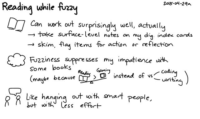 2015-04-29a Reading while fuzzy -- index card #reading #fuzzy