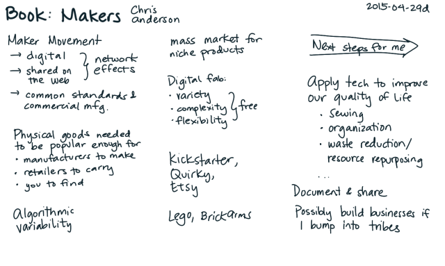 2015-04-29d Raw book notes - Makers - Chris Anderson -- index card #book
