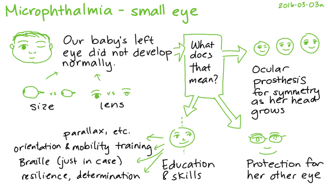 2016-03-03a Microphthalmia - small eye -- index card #microphthalmia